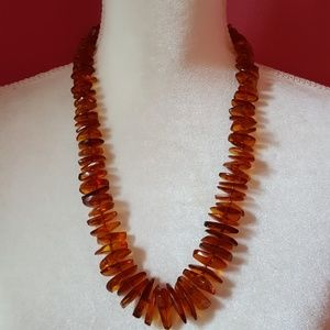 """Jewelry - Vintage Genuine Polish Knotted Amber Necklace 25"""""""